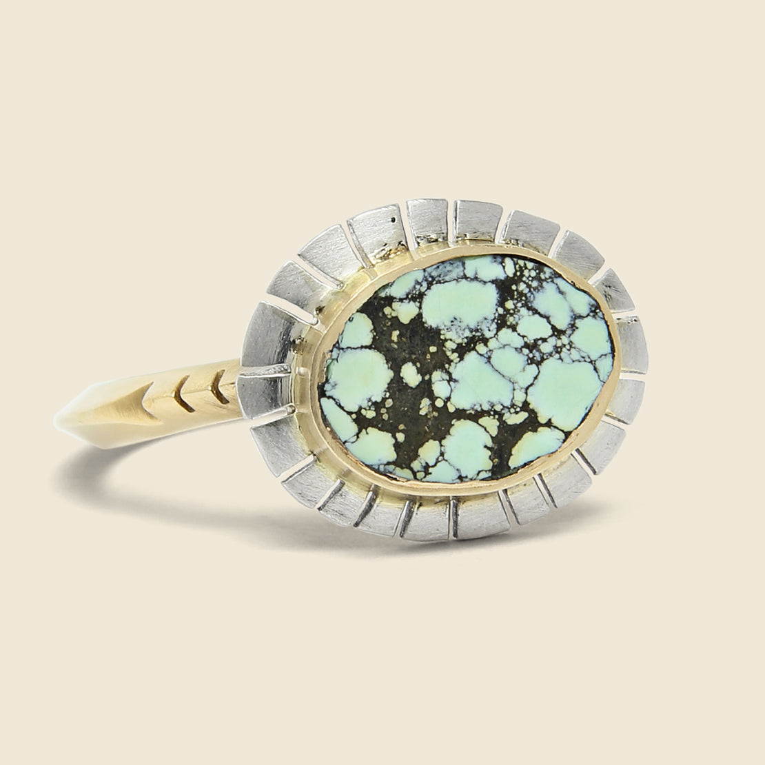 Young in the Mountains Equinox Ring - Peacock Turquoise