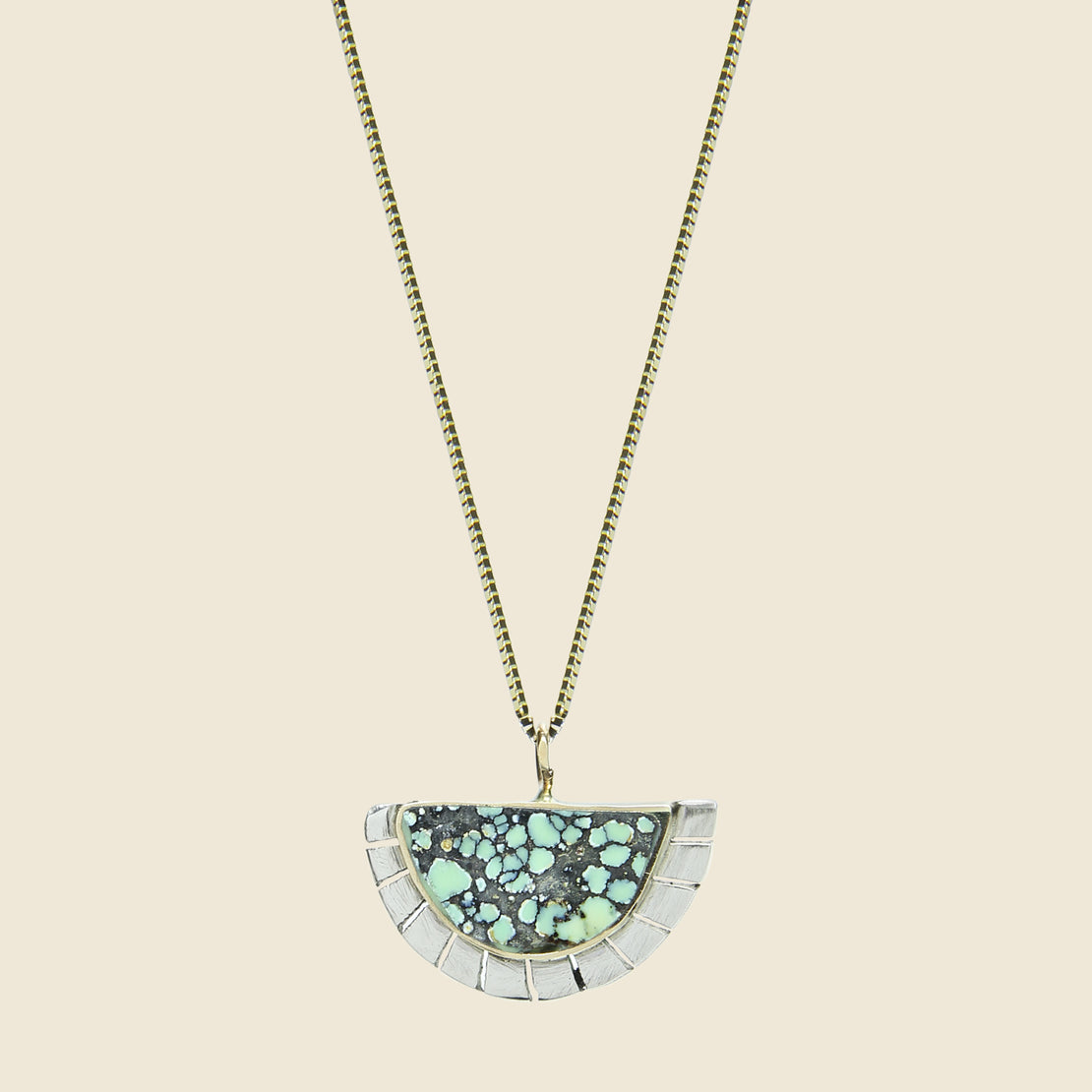 Young in the Mountains Selene Necklace - Peacock Turquoise