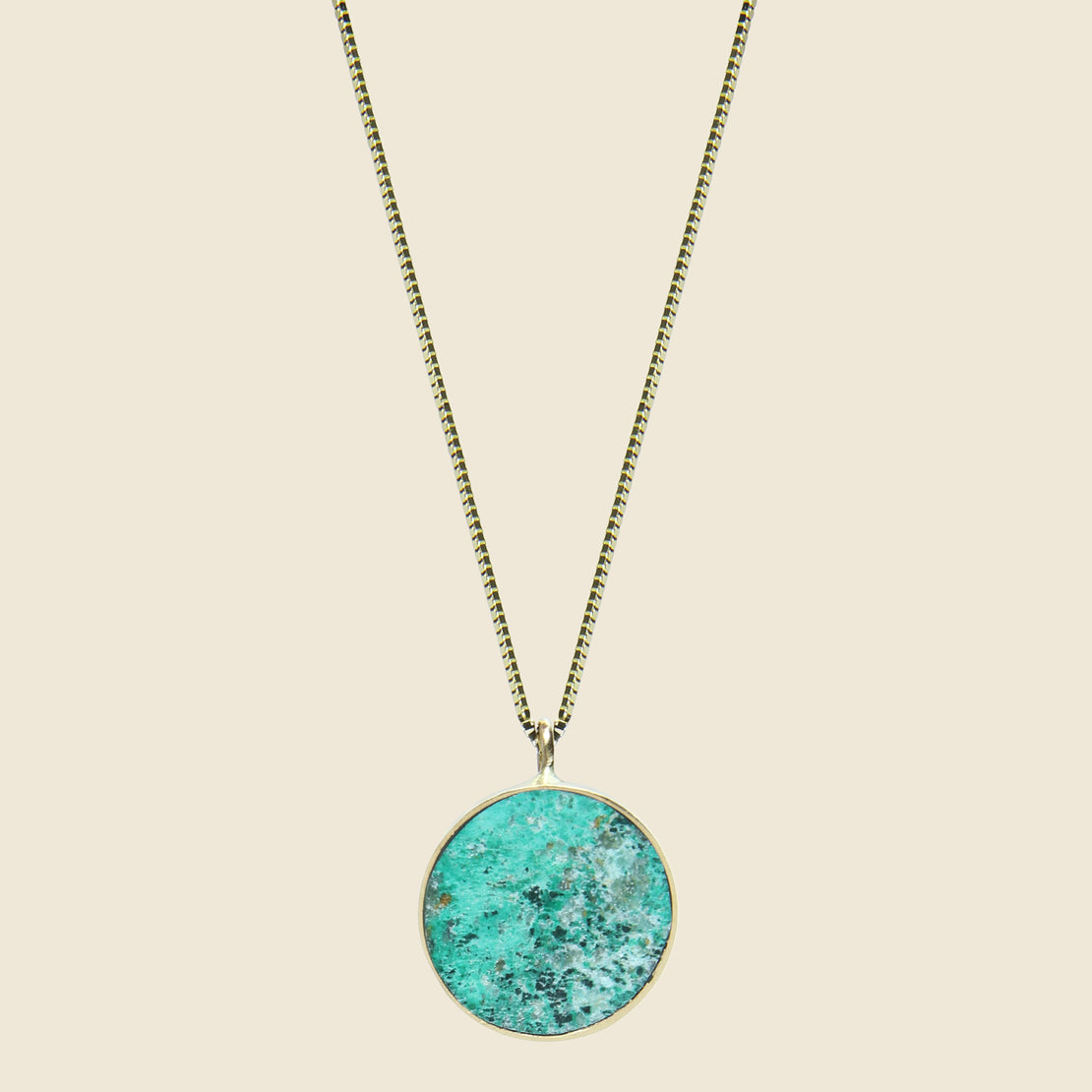Young in the Mountains Circ Necklace - Chrysocolla