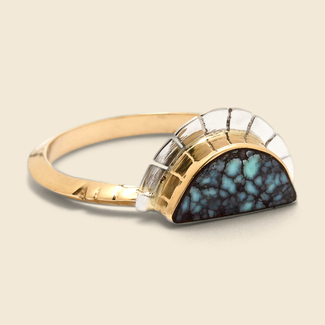 Young in the Mountains Selene Ring - Variscite