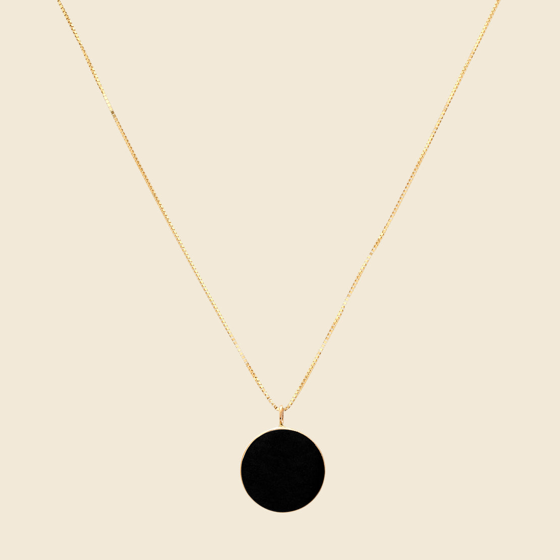 Young in the Mountains Circ Necklace - Black Jade