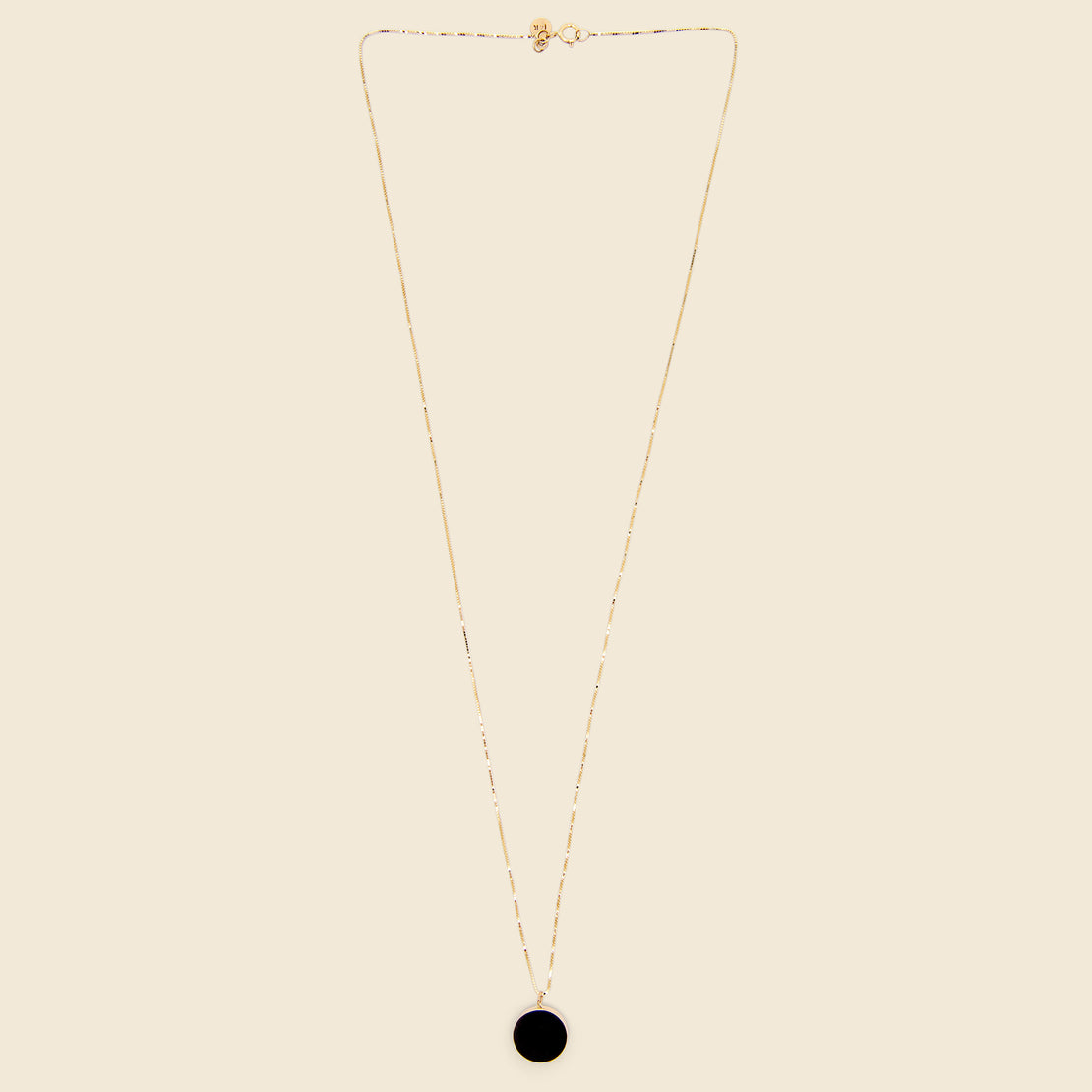 Circ Necklace - Black Jade