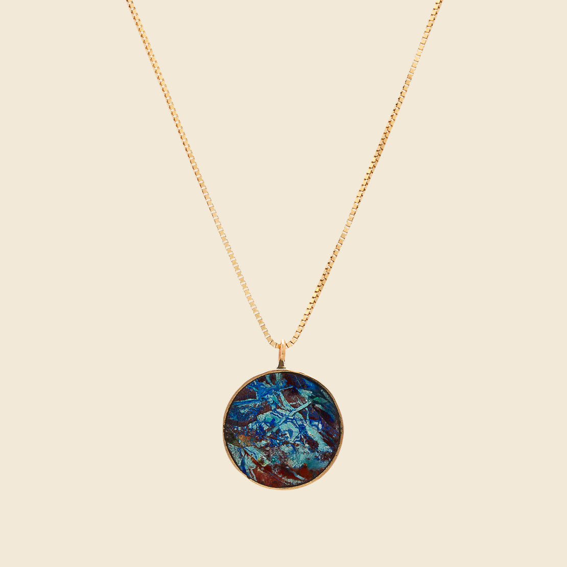 Young in the Mountains Circ Necklace - Azurite