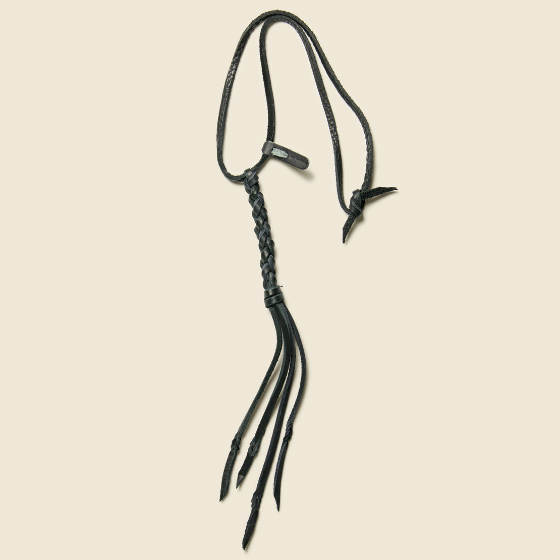 Yuketen Braided Leather Necklace - Black