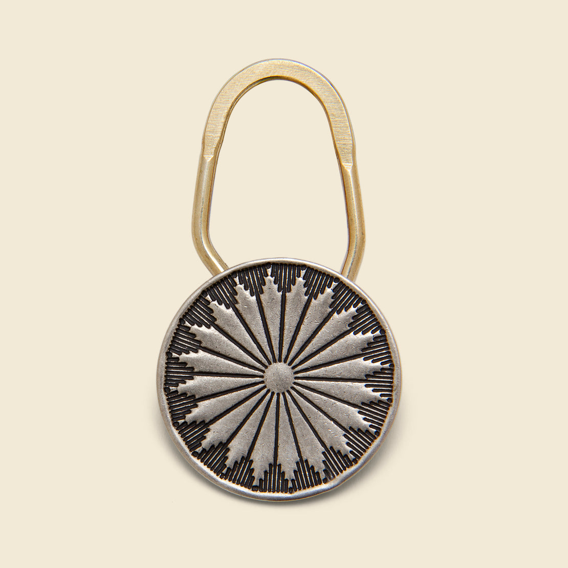 Yuketen Concho Key Chain - Nickel Silver