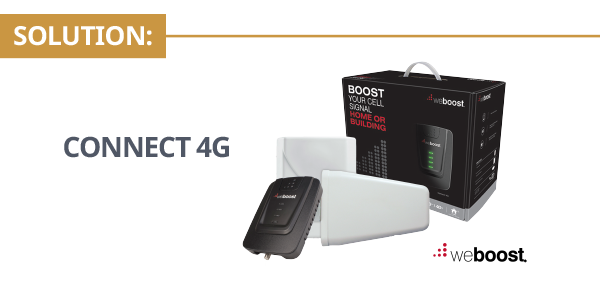 SignalBoost Central WeBoost Connect 4G Signal Booster Kit Solution