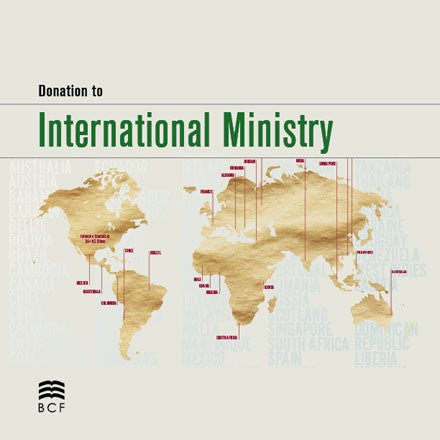 Donation to International Ministry
