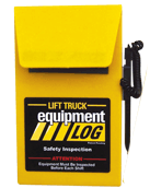 Fork Lift Truck Log - Replacement Log Book (RLOG-CB) Propane Counterbalance Only IWI 70-1065