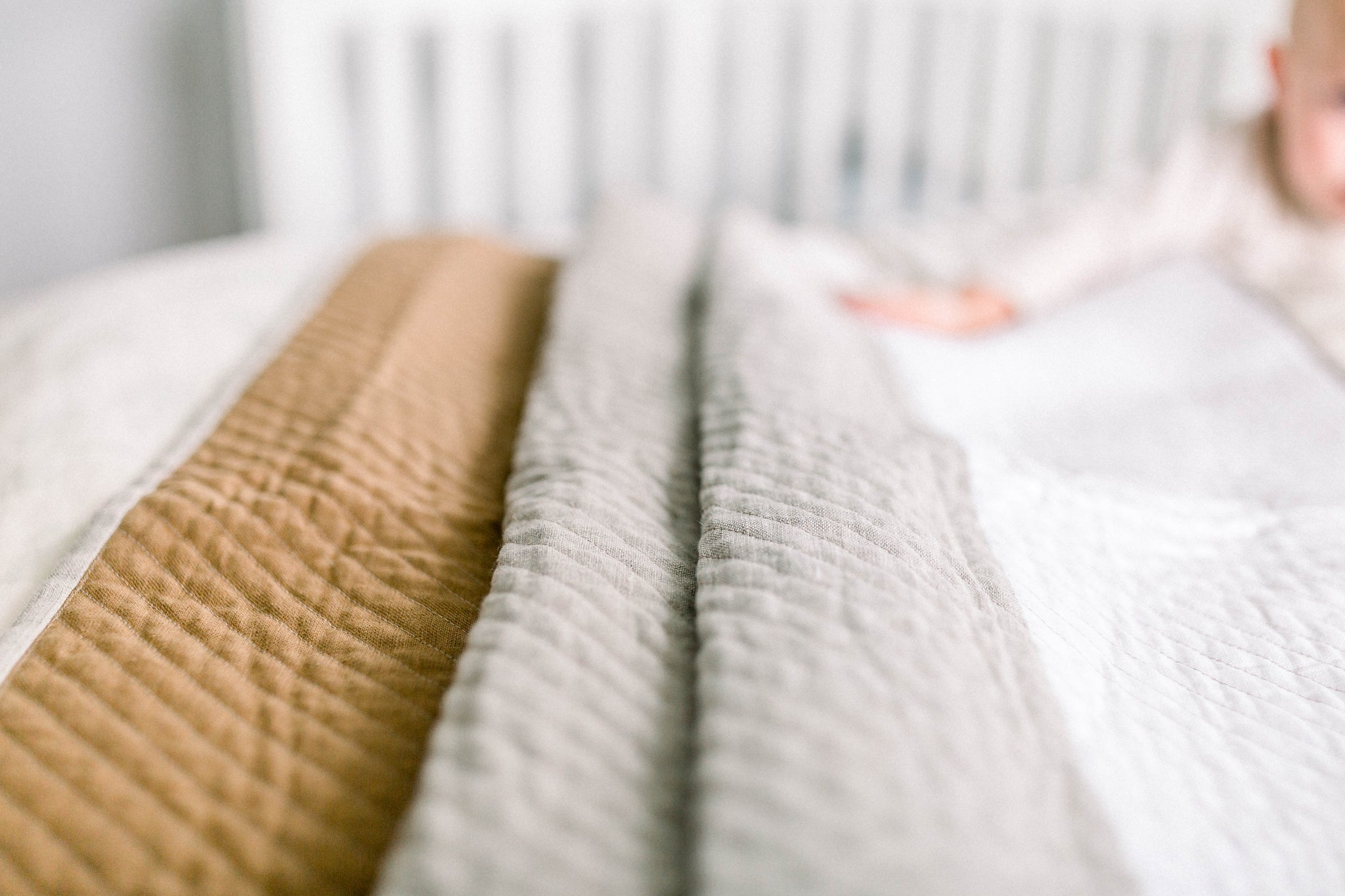 ombre baby quilt