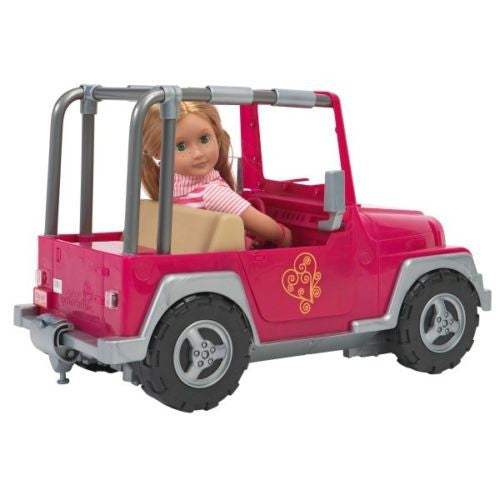 "Our Generation 18"" Doll's 4 x 4 Pink Jeep Car"
