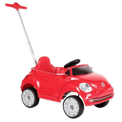 VW Beetle Push and Pedal Car Red Ride On