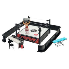 WWE Ringside Battle Raw Wrestling Ring Playset With Figure & Accessories