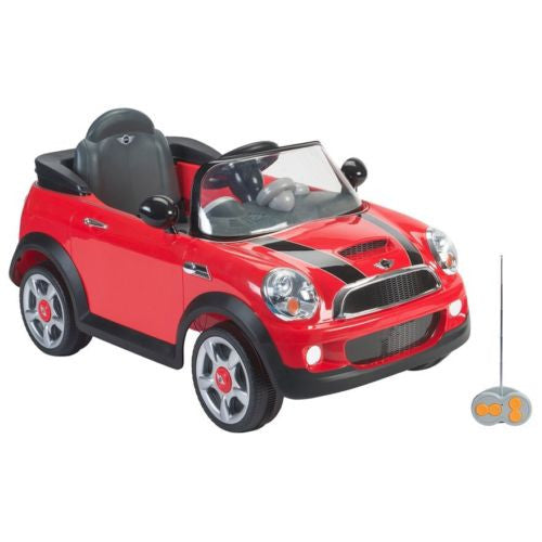 Toy Cars That You Can Drive >> Red Mini Cooper Children Electric Ride On Car With Parent Remote Control