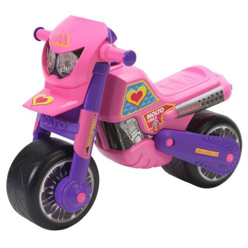 Molto Cross Ultimate Pink & Purple Motorbike Ride On