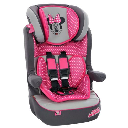 Imax Deluxe SP Minnie Mouse Group 1-2-3 Car Seat – Browns Toy Emporium