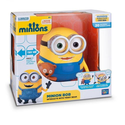 Minions 18cm Minion Bob Talking Action Figure With Teddy