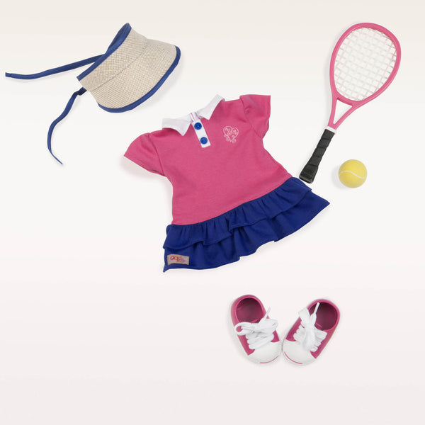 Our Generation Doll Ace'd it Tennis Outift