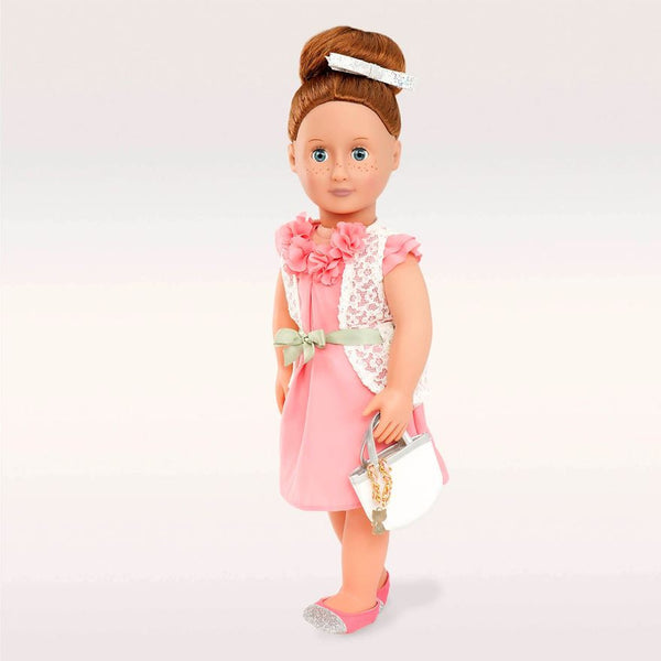 Our Generation Deluxe Pink Dress with Purse Outfit