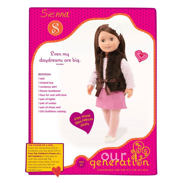 Our Generation Doll Sienna Browns Toy Emporium