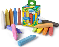 Crayola 16 Colours Washable Sidewalk Chalk Pack
