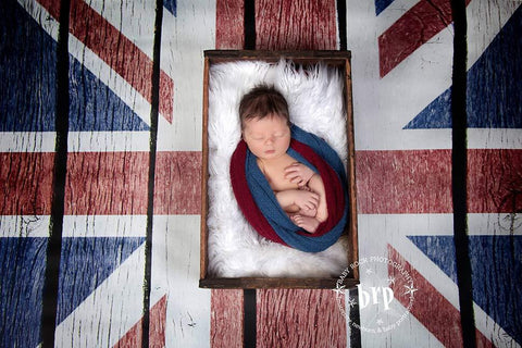 British Flag Wood Floor Printed Backdrop - 6212 - DropPlace