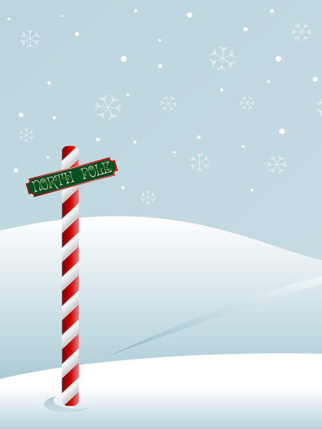 North Pole Photography Background / 078 - DropPlace