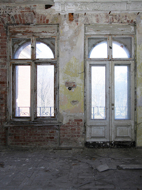 Printed Background Windows Doors Photo Background / 1084 - DropPlace