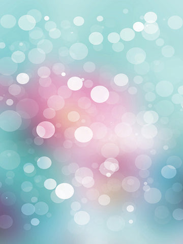 Teal and Pink Bokeh Photography Backdrop / 1448 - DropPlace