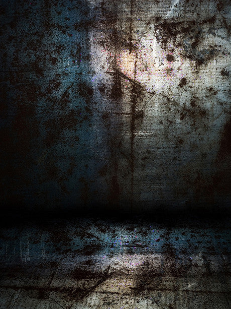 Grunge Dark Wall Printed Photography Background / 155