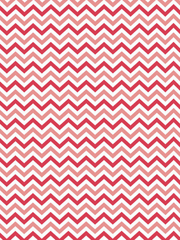 Soft Red Chevron Printed Photography Backdrop / 2687 - DropPlace