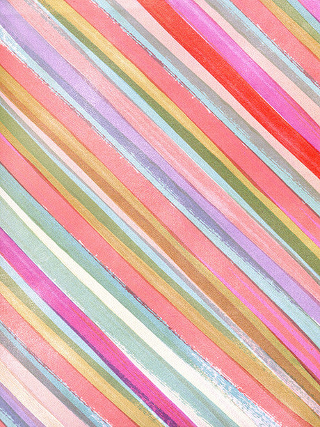 Watercolor Striping Printed Photography Backdrop / 2775