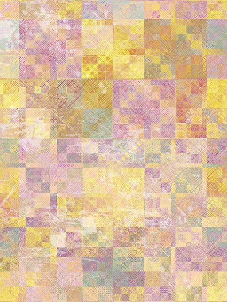 Yellow Quilt Stitch Printed Photography Backdrop / 2834