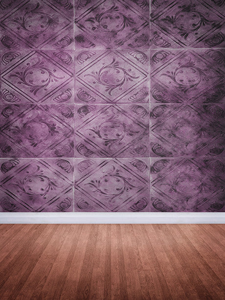 Gala Ball Purple Tile Wall Backdrop Photo Background / 401
