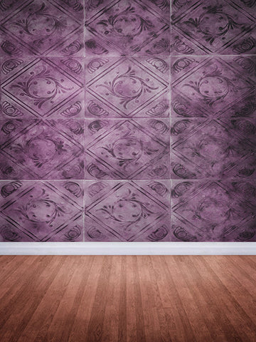 Gala Ball Purple Tile Wall Backdrop Photo Background / 401 - DropPlace