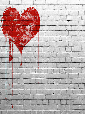 Urban Heart Photo Backdrop / 444 - DropPlace