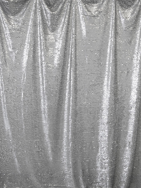 Soft Silver Sequin Photo Background / 4607 - DropPlace