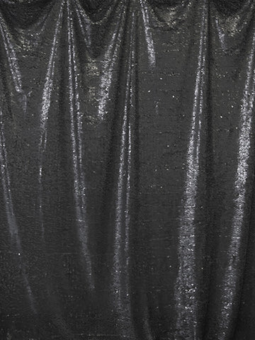 Black Sequin Printed Photography Backdrop / 4615 - DropPlace