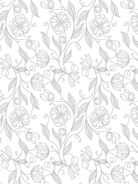 Illustrative Flowers Printed Photo Backdrop / 566 - DropPlace