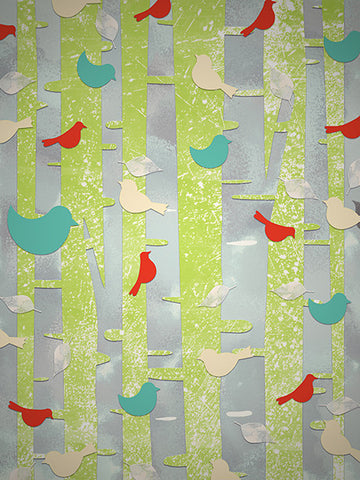 Printed Photo Backdrop Birdy Bird Background Printed Photo Backdrop / 6711 - DropPlace