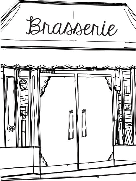 Brasserie Photo Backdrop / 7406 - DropPlace