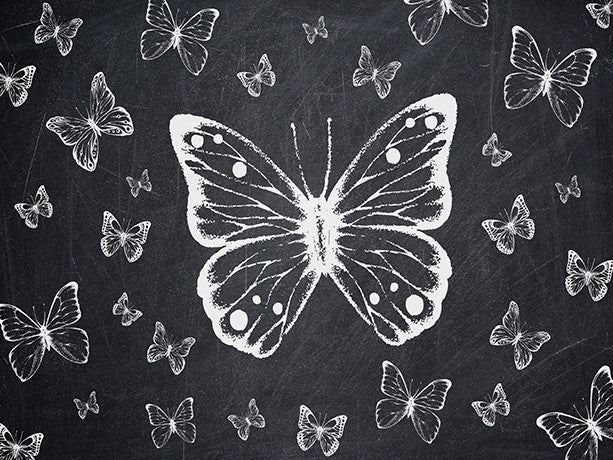 Butterfly Baby Printed Photo Background / 8195 - DropPlace