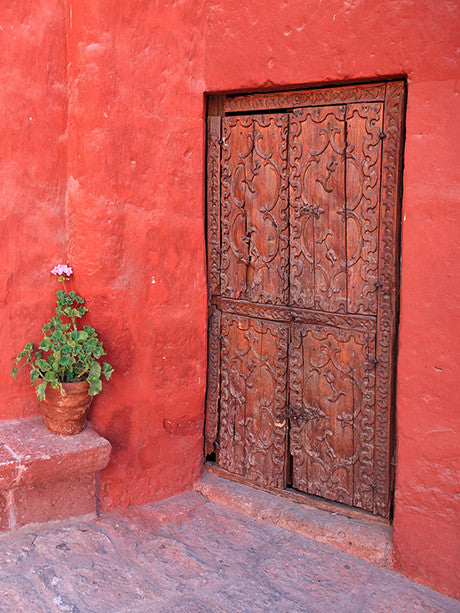 Red Pueblo Photo Backdrop / 853 - DropPlace