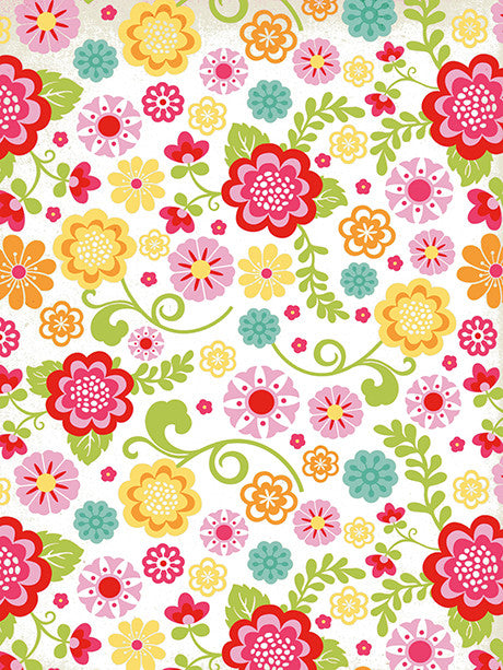 Flower Fun Printed Photography Backdrop / 9745 - DropPlace