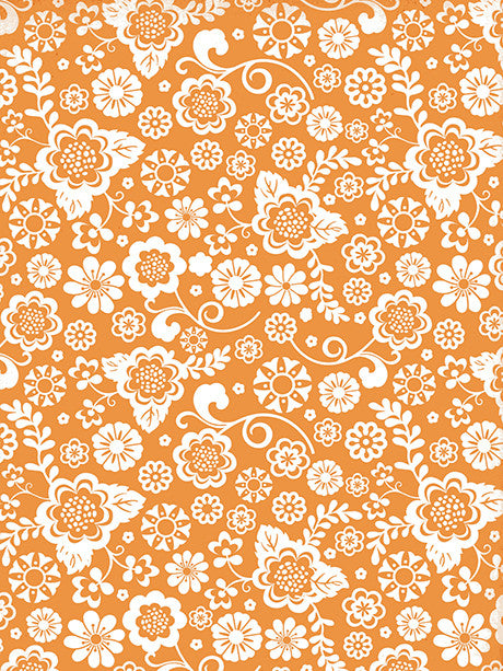 Orange Dream Printed Photography Background / 9746 - DropPlace