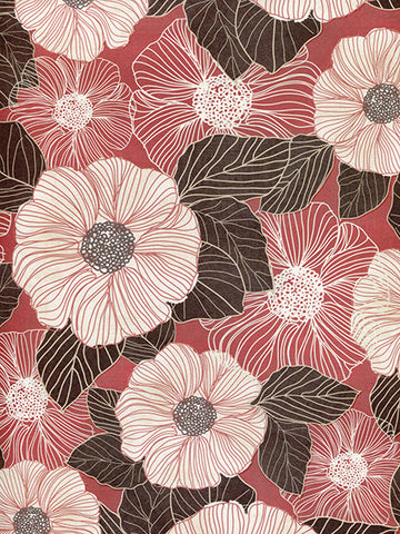 Linear Flowers Photo Backdrop / 9752 - DropPlace