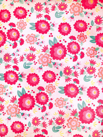Bright Flowers Printed Photo Background / 9772 - DropPlace