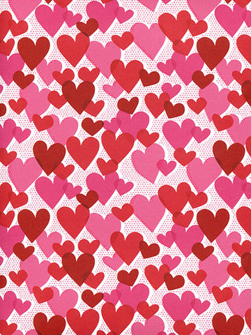 Red and Pink Hearts photo backdrop