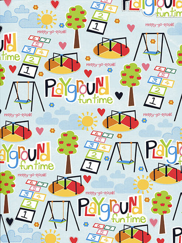 At The Playground Printed Photo Background / 9892 - DropPlace