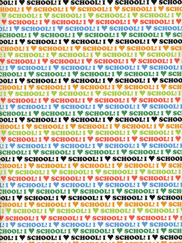 I Heart School Photo Background / 9896 - DropPlace