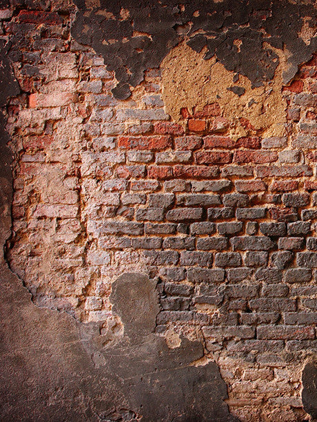 Crumbling Brick Wall Printed Photography Backdrop / 001 - DropPlace
